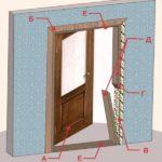 Демонтаж дверной коробки и сборка новой