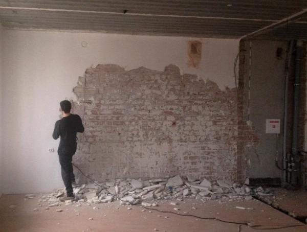 Демонтаж штукатурки в Москве