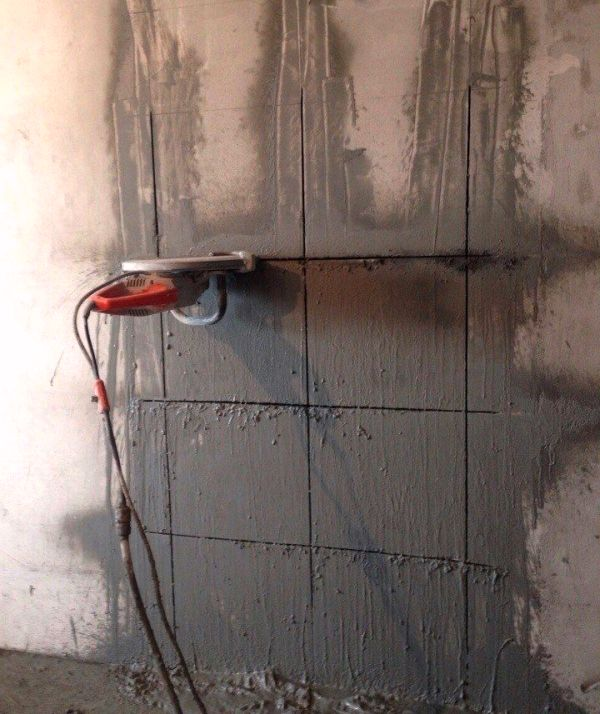 Мокрая резка стен