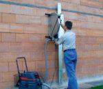 Резка стенорезной машиной
