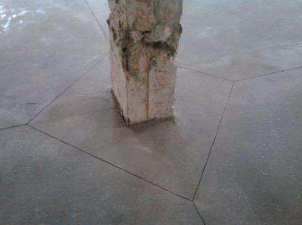 Штробление бетонных швов