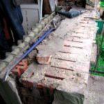 Демонтажные работы с подоконным блоком