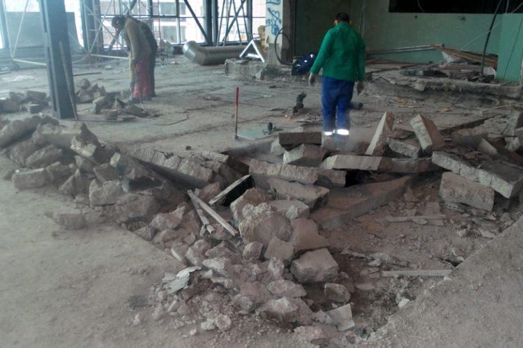 Снос бетонного пола
